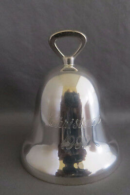 1992 Reed & Barton Christmas Bell Ornament #2
