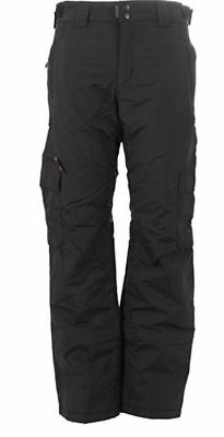 Mens Exposure Project Bobby Cargo Insulated Snow Ski Snowboard Pants Black
