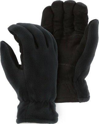 3M 40-Gram Thinsulate Lined Medium Black Deerskin Suede Leather Palm Gloves