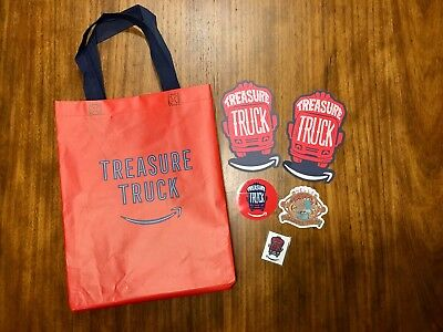 Lot of Amazon Treasure Truck Promotional Material From Austin Texas Bag Swag