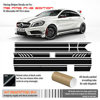 Mercedes Benz W176 A Class AMG A45 Edition 1 Style Stripes Graphics
