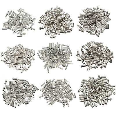 100Pcs Uninsulated Bootlace Ferrules Kit Cord End Cable Crimps 0.5mm² to 16mm²