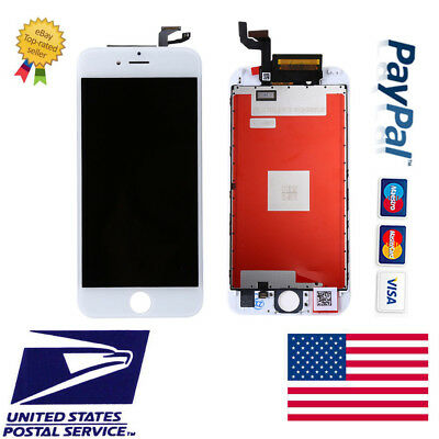 White Screen Display 3D Touch Digitizer  Assembly Framed LCD For iPhone 6S 4.7''