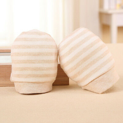 Newborn Anti Scratch Mittens Infant Soft Cotton Handguard Baby Gloves Warm 2Pcs