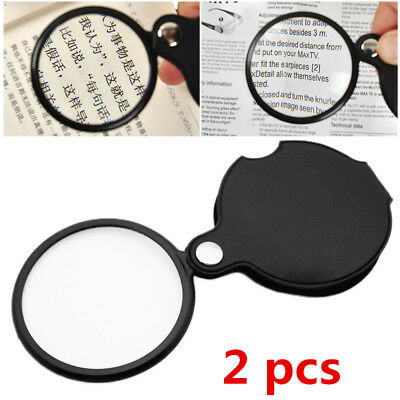 2X New Folding 8X Mini Pocket Jewelry Magnifier Magnifying Eye Glass Loupe Lens