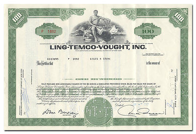 Ling-Temco-Vought, Inc. Stock Certificate