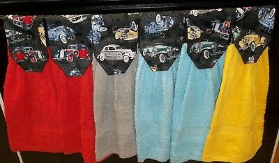 Hanging Kitchen Towels - Antique Cars