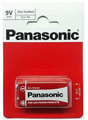 Panasonic 9V Battery Batteries New Zinc Carbon PP3 9V Exp +2Years