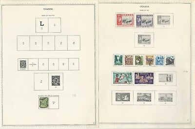Uganda Collection 1895 to 1969 on 6 One-Sided Minkus Specialty Pages