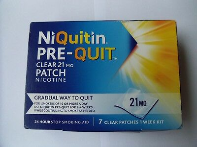Niquitin Pre-Quit Clear 21mg Patch Nicotine - 7 Patches