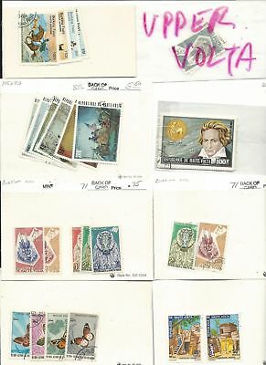 Upper Volta Collection, 50 Dealers Stock Cards, Nice Lot of Topicals