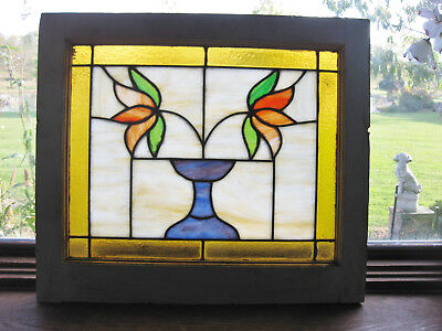 ANTIQUE STAINED GLASS WINDOW - ca. 1920s