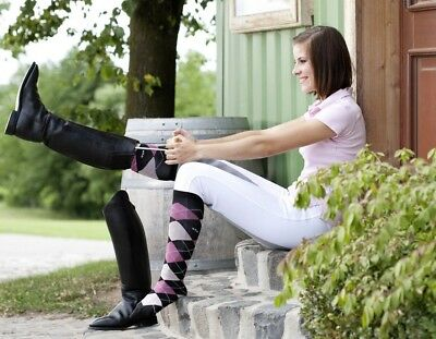 Ladies Cotton Rich Horse Riding Socks Girls Equestrian Socks Riding Socks UK 4-7