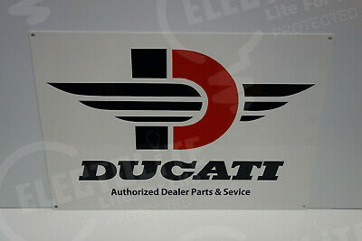 "Ducati Authorized Dealer Parts & Service Dealership Sign. 12"" X 18"""