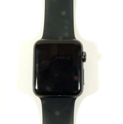Apple Watch  Sport Series 7000 Aluminum, 38 mm Black Band AS-IS