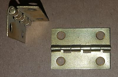 25-Brass Plated Stop Butt Hinge 1.06 x 1.5 HOLES Door/Cabinet/Box/Lot/Small 1134