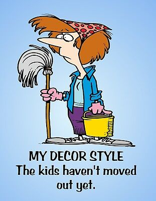METAL FRIDGE MAGNET Decor Style Kids Haven't Moved Out Friend Family Humor
