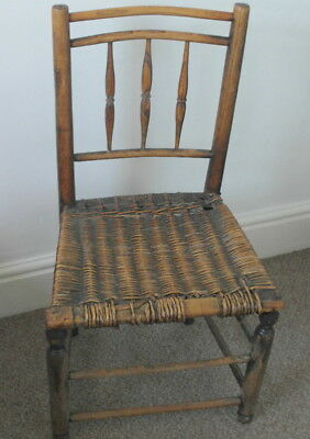 antique georgian rustic country farm house CHAIR