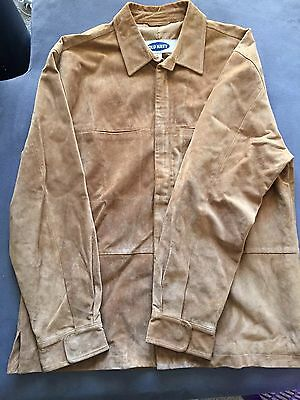 Old Navy Leather Jacket - Men's - Tan - M