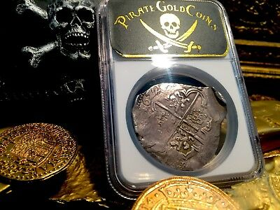Spain 1622 Atocha Era Full Date 8 Reales Seville Ngc 50 Shipwreck Treasure Coin