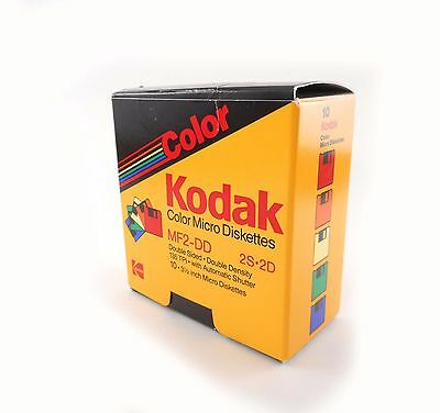 "7 Vtg Kodak Color Micro Diskettes 3 1/2"" MF2-DD 2S2D 1988,1990 Mac Start-up Disk"