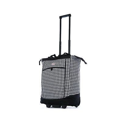 Olympia Fashion Rolling Shopper Tote Houndstooth
