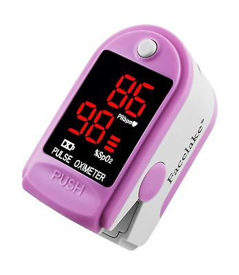 FaceLake FL400 Pulse Oximeter with Carrying Case Batteries Neck/Wrist Cord - ...