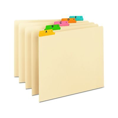 Smead 50180 Recycled Top Tab File Guides Alpha 1/5 Tab Manila Letter (Set of ...