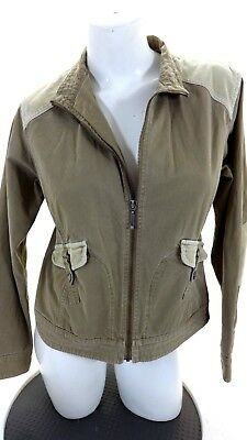 9831d33f35305 COLUMBIA WOMENS KHAKI Corduroy Trim Casual Coat Jacket Size M ...