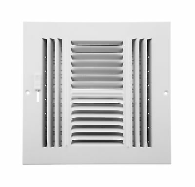 Accord ABSWWH488 Sidewall/Ceiling Register with 4-Way Design 8-Inch x 8-Inch(...
