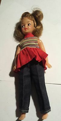 vintage Ideal pepper doll Tammy's little sister 1960s w/ original pants & shirt