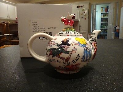 CARDEW DESIGNS Alice in Wonderland White Rabbit Porcelain Teapot 2 Cup 18oz 2004