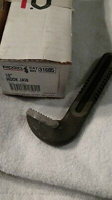 "RIDGID Tool #31605 Hook Jaw for 10"" Pipe Wrench - NEW"