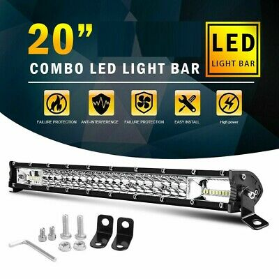 "10D 22"" 1200W Cree Curved Led Work Light Bar Spot Flood Car Offroad Fog Lamp"