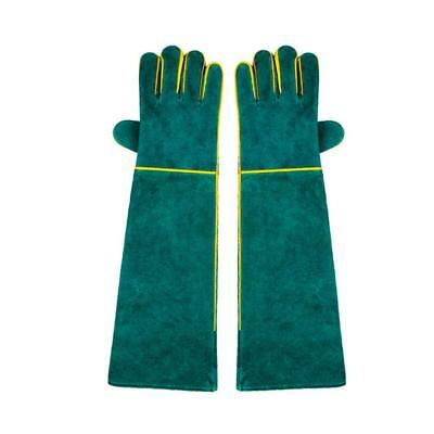 Leather Welding Gloves HEAT RESISTANT WEAR RESISTANT Welder/Fireplace Green/uk