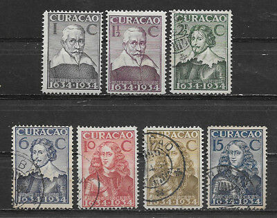 Curacao , Netherlands Antilles , 1934 , Set Of 7 Stamps  , Perf , Vlh/used