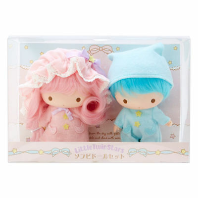 Little Twin Stars Soft Vinyl Doll Set Sanrio Kiki Lala Rare From Japan F/S New