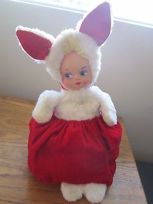 Vintage Knickerbocker Toy Co Animals of Distinction Rubber Baby Face Bunny Plush