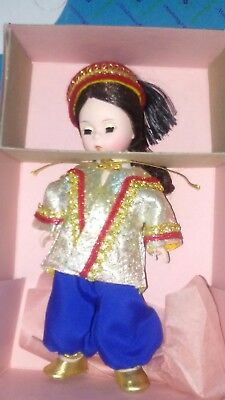 "Vintage madame alexander doll Turkey #587 international dolls. 8"". Original box."