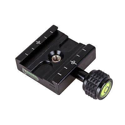Release Clamp Plate For Arca SWISS Manfrotto Gitzo Tripod Ball Head 1/4 to 3/8'