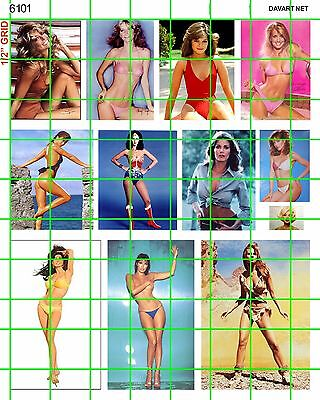6101 Dave's Decals Pin Up 70's 80's Sexy Women Vintage Posters Garage Dioramas