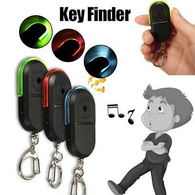 Wireless Anti-Lost Alarm Key Finder Locator Keychain Whistle Sound LED Light FG