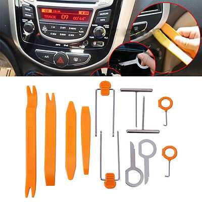 Universal Car Radio Stereo Dash Clip Panel Removal Install Open Pry Tools Kit #B
