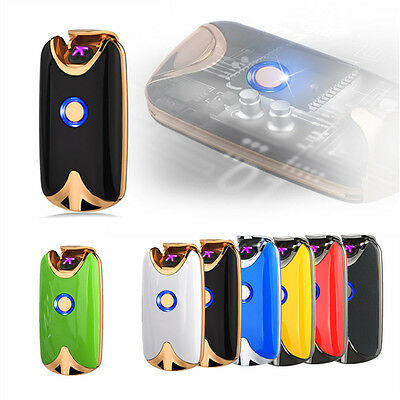 USB Electric Rechargeable Windproof Dual Arc Plasma Lighter Flameless Gift