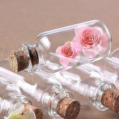 Wholesale 10ml 22x50mm Empty Clear Wishing Glass Bottles Vials With Cork
