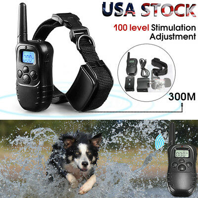 Pet Dog Training Collar Rechargeable Electric LCD 100LV Shock (One Collars)