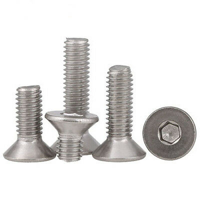 M3 M4 M5 M6 M8  A2 Stainless Steel Countersunk Bolts Allen Socket Screws 5-100pc