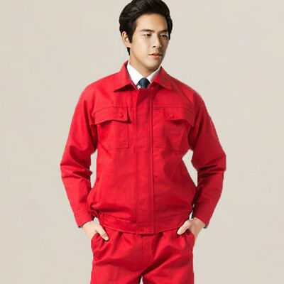 New Work Coveralls Unisex Lapel Workwear Protective Clothing Dustproof Uniforms