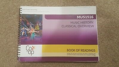 Music History Classical Overview Book of Readings MUS1516 Edith Cowan University