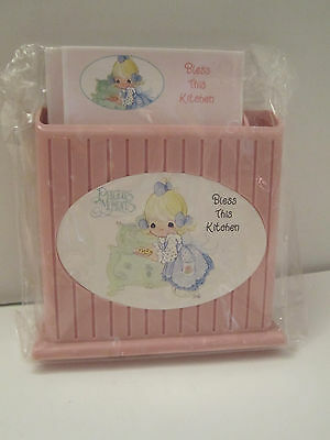 GIFTCO 1997 Precious Moments BLESS THIS KITCHEN Desk Caddy & Notepad PAPER Set